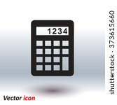 calculator icon. flat design... | Shutterstock .eps vector #373615660
