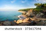 morning on the beach  sand ... | Shutterstock . vector #373617046