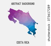 costa rica map in geometric... | Shutterstock .eps vector #373617289