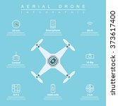 air drone infographic. thin... | Shutterstock .eps vector #373617400