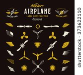 abstract vector airplane labels ... | Shutterstock .eps vector #373622110
