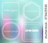 vector mono line graphic design ... | Shutterstock .eps vector #373625530