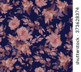 beautiful floral print design... | Shutterstock . vector #373628374