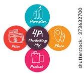 4 p  marketing mix elegant icon ... | Shutterstock .eps vector #373632700