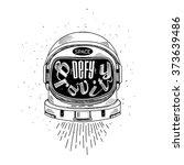 defy the gravity  hand drawn... | Shutterstock .eps vector #373639486