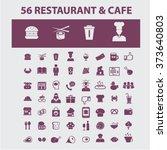 restaurant concept icons  hotel ...   Shutterstock .eps vector #373640803