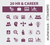 hr  career  job  icons  signs... | Shutterstock .eps vector #373640890