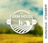 farm house concept logo. logo... | Shutterstock .eps vector #373648849