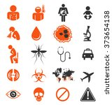 icon set of zika virus... | Shutterstock .eps vector #373654138