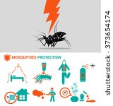 set of mosquitoes protection... | Shutterstock .eps vector #373654174