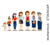 generations woman. people... | Shutterstock .eps vector #373656169