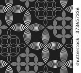 seamless circle pattern.... | Shutterstock .eps vector #373657336