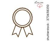 line icon  medal | Shutterstock .eps vector #373658350