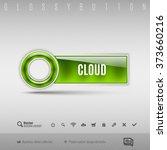 green modern plastic button... | Shutterstock .eps vector #373660216