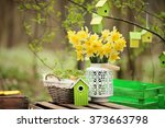 Easter Decoration With Spring...
