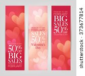 valentine's day sale. banners... | Shutterstock .eps vector #373677814