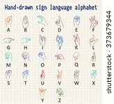 hand drawn sign language