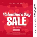 valentine's day sale banner | Shutterstock .eps vector #373686178