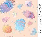 boho style seamless pattern... | Shutterstock .eps vector #373689244