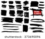 grunge banners and brush... | Shutterstock .eps vector #373690096