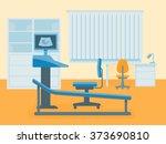 medical room of ultrasound... | Shutterstock .eps vector #373690810