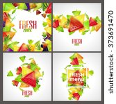set of beautiful cool style of... | Shutterstock .eps vector #373691470