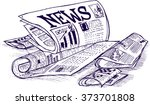 news paper  sketch | Shutterstock .eps vector #373701808