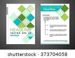 abstract vector modern flyers... | Shutterstock .eps vector #373704058