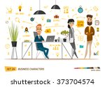 business characters set.... | Shutterstock .eps vector #373704574