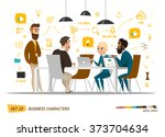 business characters set.... | Shutterstock .eps vector #373704634