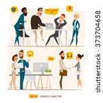 business characters set.... | Shutterstock .eps vector #373704658
