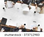 business team meeting planning... | Shutterstock . vector #373712983
