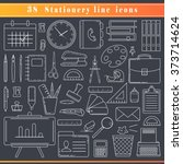 thin line icons for business... | Shutterstock .eps vector #373714624