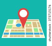 navigation geolocation icon.... | Shutterstock .eps vector #373715176
