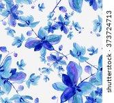 watercolor seamless pattern... | Shutterstock . vector #373724713