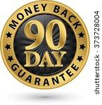 90 day money back guarantee... | Shutterstock .eps vector #373728004