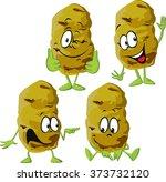 potato cartoon isolated on... | Shutterstock .eps vector #373732120