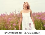 outdoor portrait of a beautiful ... | Shutterstock . vector #373732834