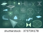 big collection of elements ... | Shutterstock .eps vector #373734178