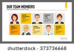 business team members chart... | Shutterstock .eps vector #373736668