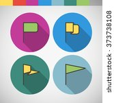 vector icon in color circle in...   Shutterstock .eps vector #373738108
