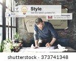 style trendy fashion designer... | Shutterstock . vector #373741348