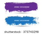 vector grunge banners.grunge... | Shutterstock .eps vector #373743298
