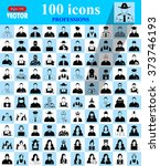 professions icons  profile icon ... | Shutterstock .eps vector #373746193