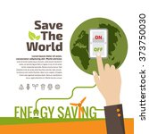 savings concept  switch off ... | Shutterstock .eps vector #373750030