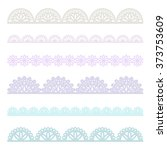 set of lace borders   vector... | Shutterstock .eps vector #373753609