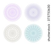 set of lace doilies   vector... | Shutterstock .eps vector #373753630