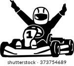 winning kart racer | Shutterstock .eps vector #373754689