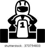 kart racer icon | Shutterstock .eps vector #373754833