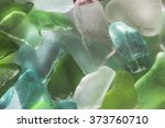color pieces of glass  polished ... | Shutterstock . vector #373760710